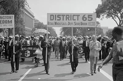 August 28, 1963 - Marchers Carrying Art Print
