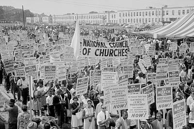 Discrimination Photograph - August 28, 1963 - Marchers, Signs by Stocktrek Images