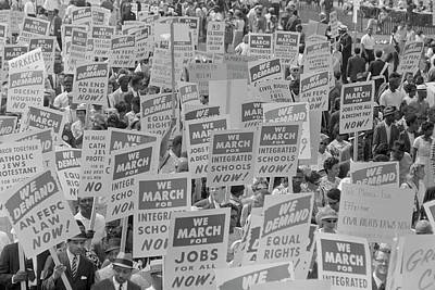 Discrimination Photograph - August 28, 1963 - Marchers With Signs by Stocktrek Images