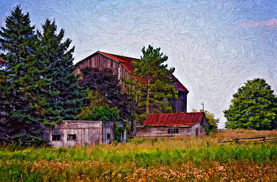 Weed Photograph - August Afternoon Impasto by Steve Harrington