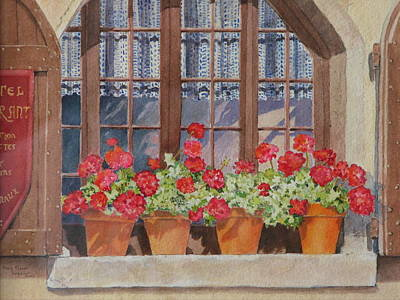 Painting - August At The Auberge  by Mary Ellen Mueller Legault