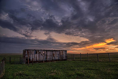Prairie Storm Photograph - August Boxcar by Thomas Zimmerman