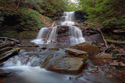 Photograph - August Evening Below Tuscarora Falls by Gene Walls