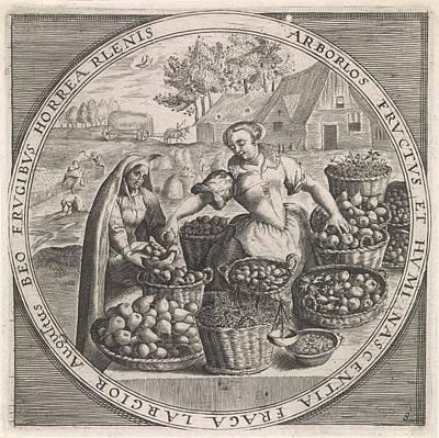 August Fruit Vendor, Anonymous, Crispijn Van De Passe Art Print
