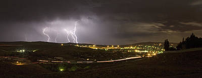 Photograph - August Lightning by David Halter