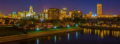 Buffalo City Hall Photograph - August Night In Buffalo by Don Nieman