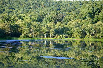 August Reflections At Roseland Lake  Art Print