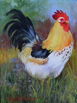 August Rooster Art Print by Cheri Wollenberg