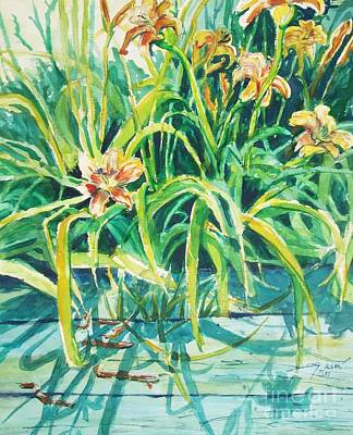 Art Print featuring the painting August Shadows by Joy Nichols