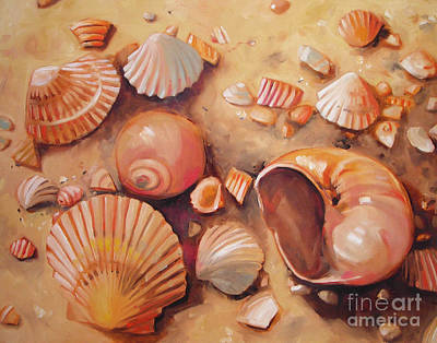 August Shells Art Print by Mary Hubley