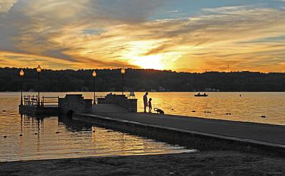 August Sunset Cazenovia Pier Art Print