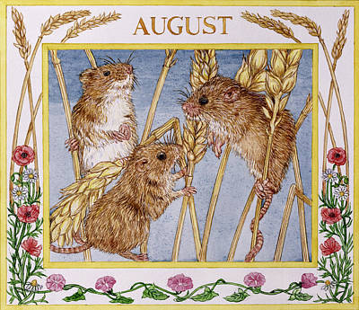 Mice Photograph - August Wc On Paper by Catherine Bradbury