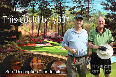 Golf Painting - Augusta 12th Hole by Tim Gilliland