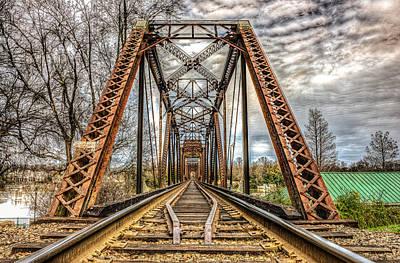 River Walk-bridge  Art Print