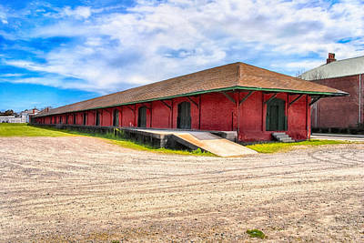 Photograph - Augusta's Old Southern Railway Freight Depot by Mark E Tisdale