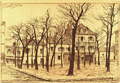 Auguste Delâtre, Place Du Tertre, French Art Print by Litz Collection
