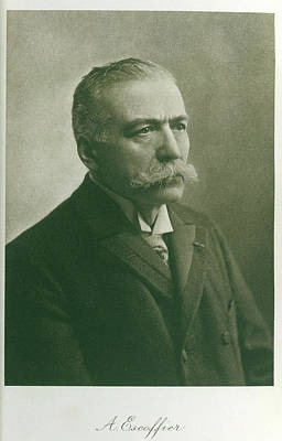 Portaits Photograph - Auguste Escoffier by British Library