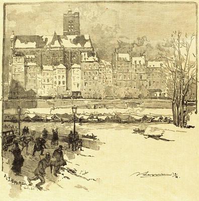 Auguste Lepère French, 1849 - 1918, Quai De Lhôtel De Art Print