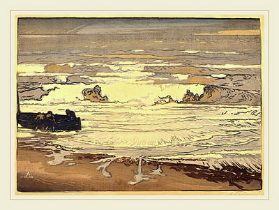 Auguste Lepère, Unfurled Waves, Flood Of September 1901 Art Print by Litz Collection