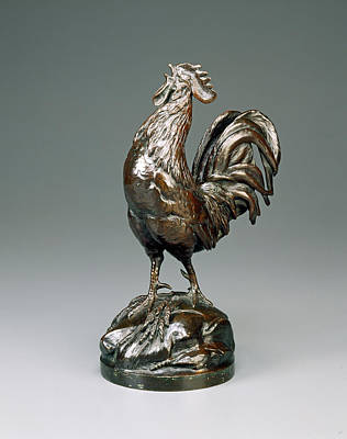 Auguste-nicolas Cain, French Cock Crowing Art Print by Litz Collection