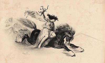 Affiche Drawing - Auguste Raffet French, 1804 - 1860. Affiche Pour La by Litz Collection