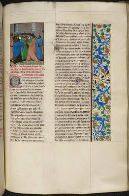 Book Illustrations Photograph - Augustine's 'city Of God' by British Library
