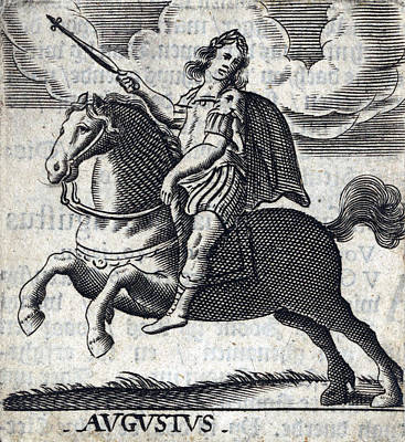 Augustus, 1st Emperor Of Rome Print by Folger Shakespeare Library
