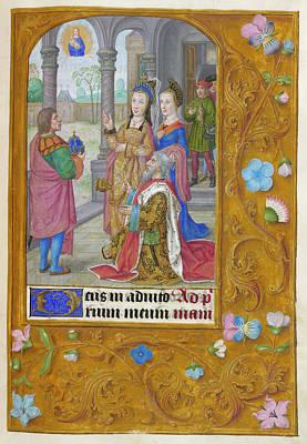 Jesus Photograph - Augustus And The Tiburtine Sibyl by British Library