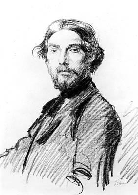 Self-portrait Drawing - Augustus John (1878-1961) by Granger