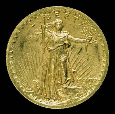 1907 Drawing - Augustus Saint-gaudens, Double Eagle Twenty Dollar Gold by Litz Collection