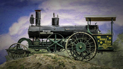 Aultman Saw Mill Special Double Star Steam Tractor V3 Art Print by F Leblanc