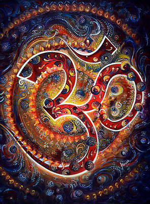 Chakra Painting - AUM by Harsh Malik