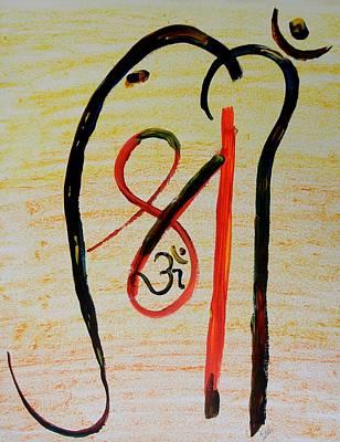 Painting - Aum Shri Ganesh by Kruti Shah