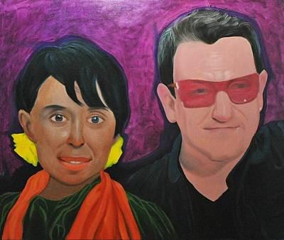 Aung San Suu Kyi And Bono Original