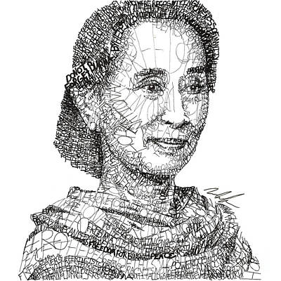 Drawing - Aung San Suu Kyi by Michael Volpicelli