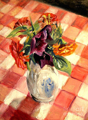 Painting - Aunt Alma's Flowers - 1944 by Art By Tolpo Collection