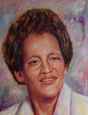 Painting - Aunt Elizabeth Karorsa by Samuel Daffa