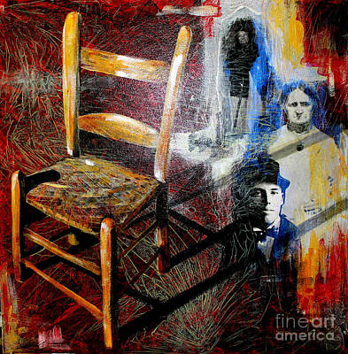 Genealogy Mixed Media - Aunt Sal's Chair by Rebecca Myers