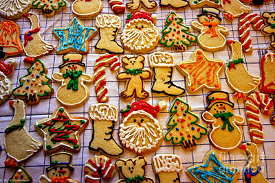 Aunt Tc's Christmas Cookies Art Print by Mitch Shindelbower