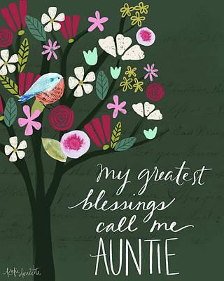 Auntie Art Print