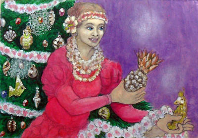 Painting - Auntie With Decorations by Jack Adams