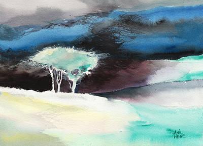 Rain Drawing - Aura by Anil Nene