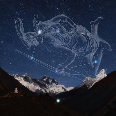 Auriga Over The Himalayas Art Print