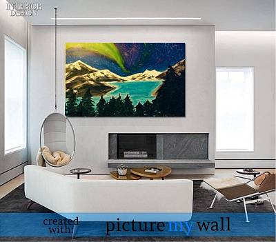 Mendenhall Glacier Painting - Aurora  by Shelia Gallaher Chancey