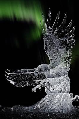 Alaska Photograph - Aurora And The Ice Eagle by Thomas Payer