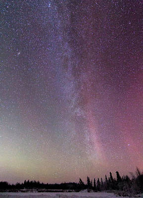 Photograph - Aurora And The Milky Way by Valerie Pond
