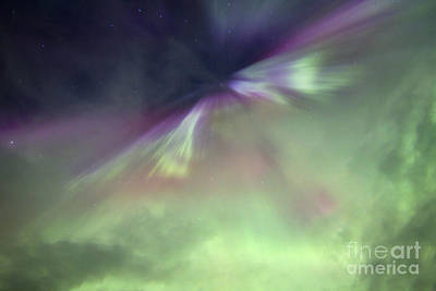 Photograph - Aurora Borealis And Big Dipper Burst by Joseph Bradley