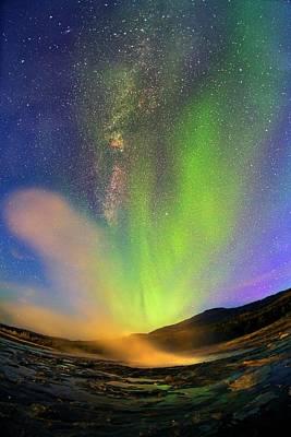Fish Eye Lens Photograph - Aurora Borealis by Juan Carlos Casado (starryearth.com)