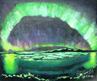 Painting - Aurora Borealis by Laurie Morgan
