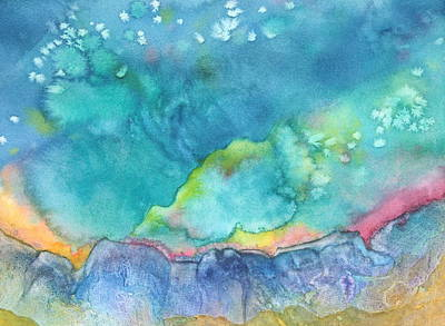 Art Print featuring the painting Aurora Borealis by Nancy Jolley